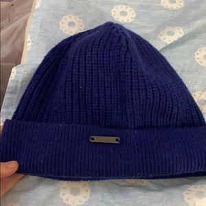 Burberry blue wool hat